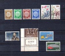 Israel   1954  .-  Y&T Nº   72/75 - 76/77 - 78 - 79 - 80/81 - Israel