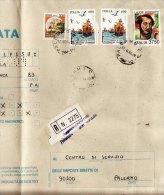 COMMEMORATIVI  /  Cover _ Lettera  Perfin Codice Alfanumerico - Multipli Lire 600 X 2 + 3750 + Altro - 6. 1946-.. Repubblica