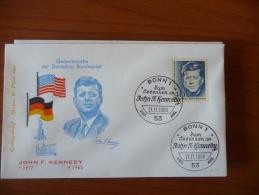 Germania - FDC - 1964 - Mi N. 453 - Kennedy - FDC: Buste