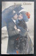 Bonne Année - 1912 - Koppel In Sneeuw Onder Paraplui - Año Nuevo