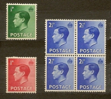 Gran Bretagna Great Britain  N. 205-206-208 /*-** - 1936  Lot Lotto - 1902-1951 (Re)