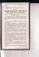 EVREHAILLES CINEY Joseph BONJEAN Veuf MOHIMONT 1825-1904 Souvenir Mortuaire - Obituary Notices