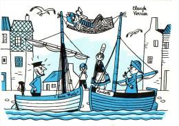 LOT De 6 CARTES POSTALES HUMOUR: Claude VERRIER (Ames Vaillantes Te Souhaite De Bonnes Vacances) - Humour