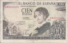-  ESPAGNE - BILLETS - 100 PESETAS - 19 NOVEMBRE 1965 - N° 1B9282841 - [ 3] 1936-1975 : Regency Of Franco