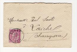Lettre Avec N° 46 De Sugny 22/06/1883  Pour Laiche  En Passant à St-Cécile 23/06/1883 - Poste Rurale