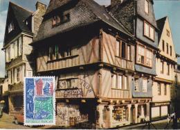 Carte Maximum FRANCE N° Yvert 1505 (MORLAIX) Obl Sp Ill 1er Jour (Ed Yvon 5748) - 1960-69