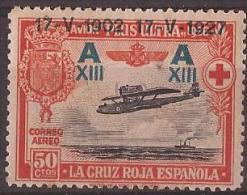 ES370-A943TTOM.Spain. Espagne.CRUZ  ROJA 2ª. AEREA .AVION PLUS ULTRA 1927 (Ed 370**) Sin Charnela.MAGNIFICO - Transporte