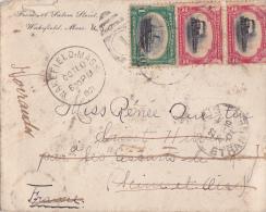 ETATS-UNIS  LETTRE POUR LA FRANCE - Cartas