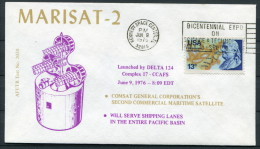 1976 USA MARISAT 2 Kennedy Space Centre Rocket Cover - Covers & Documents