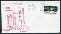 1972 USA Spy Satellite Kennedy Space Centre Rocket Cover - Covers & Documents