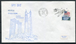 1973 USA Spy Sat Kennedy Space Centre Rocket Cover - Covers & Documents