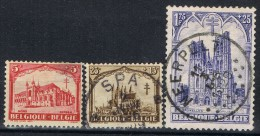 Sellos Belgica 1928 Anti Tuberculosos, Num 267, 268 Y 271 º - Oblitérés