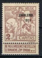 Sello 2 Cts Exposicion Arte Bruxelles 1919, Belgica Caritas Num 102 * - Belgique