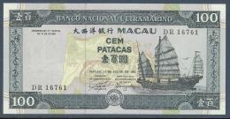 #07. MACAO. 100 PATACAS. 1992. JUNK AND BRIDGE. Pick 68. UNC / NEUF - Angola