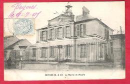 78-Beynes-La Mairie Et L´école-très Belle Cpa 1906 - Beynes