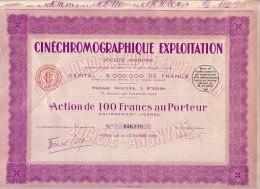 1931 - Cinéchromographique Exploitation Au 71 Avenue Des Champs-Elysées à Paris 8ème - FRANCO DE PORT - Cinéma & Théatre