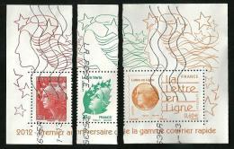 Timbres Issus Du Blocs La Lettre En Ligne - Oblitérés - Marianne De Beaujard - 2008-13 Marianne De Beaujard
