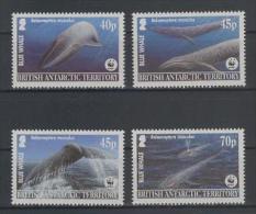 British Antarctic (2003) Yv. 382/85  /  Whales - Balenes - Ballenas - Marine Fauna - Joint Issue With South Korea - Walvissen