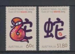 Christmas Island (2013) - Set -  /  Chinese Horoscope - Horoscope Chinois - Horoscopo Chino - Unusual Printing - Chinees Nieuwjaar