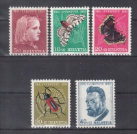 026) Schweiz : 588 - 592 ** / MNH  -  Pro Juventute  1953 //  Free Shipping Worldwide - Unused Stamps