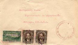 Honduras 1934 Cover Mailed To USA - Honduras