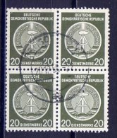DDR Dienst A  Nr.8 XI Viererblock    O       (10173) - Service