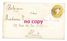 Envelope TUTICORIN (ThoothukudI - Tamil Nadu  ) Inde  INDIA POSTALE SIX PIES TWO ANNAS To ALOST Belgium 1904 - Unclassified