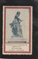BEAUVAIS - VIGNETTE FETES DE JEANNE HACHETTE  29 JUIN 1930- - Erinnophilie