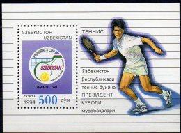 Tennis-Turnier Taschkent 1994 Usbekistan Block 3 ** 2€ Präsidenten-Pokal Bf M/s Cup Bloc Match Sport Sheet Of Uzbekistan - Uzbekistan