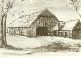 "CP De BAUERNHAUS WETTMAR "" G.-W. Brenneke "" Cachet De Burgwedel - Burgwedel"