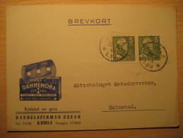 Kumla 1944 DANNEMORA To Halmstad RAZOR BLADE Pharmacy Health Sante Advertise Card Sweden - Pharmazie