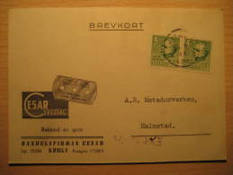 Kumla 1944 CESAR To Halmstad RAZOR BLADE Pharmacy Health Sante Advertise Card Sweden - Pharmazie