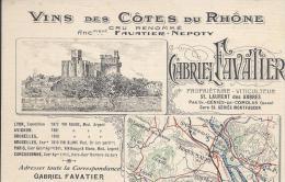 7260 - Carte De Commande Vins Des Côtes Du Rhône Gabriel Favatier La Calmette (Gard) - Commerce