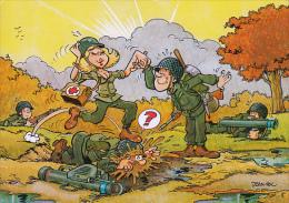 Illustrateur Jean Pol : Militaires - Humoristique - CPM Ecrite - Other Illustrators