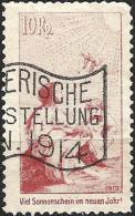"""Pro Juventute Vorläufer Deutsch Zu I Mit Werbeflagge """"Landi 1914"""" (Zumstein CHF 200.00) - Pro Juventute"""