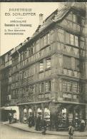 67 CPA Strasbourg Rue Merciere Publicite  Papeterie Schleiffer - Strasbourg