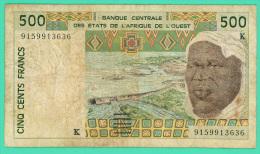 Afrique De L'Ouest - 500 Francs - Billet N° K 9159913636 - TB+ - - West African States