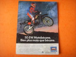 61  ) Moto :  Motobecane 50 Ew - Publicités