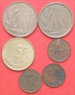 BELGIUM        6 COINS   -    (Nº02531) - Monedas & Billetes