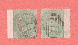 "GB SC #28 U (2) ""WINGS"" W/NIBBED PERF @ BL OF L STAMP + LT WRINKLE NEAR  B OF R STAMP, CV $600.00 - Used Stamps"