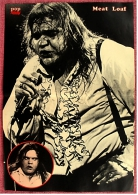 Kleines Poster  -  Meat Loaf  -  Rückseite : Thomas Gottschalk , Mike Krüger  -  Von Pop-Rocky Ca. 1982 - Plakate & Poster