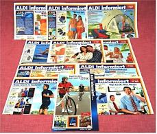10 X ALDI Informiert 2004 Reklame Prospekte  - Insgesammt  Ca. 80 Seiten Großformat - Reklame