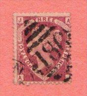 """GB SC #32a U PLT 1  W/FILLED-IN THIN NEAR TC (BACK) P1  """"186"""", CV $90.00 - 1840-1901 (Victoria)"""