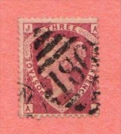 """GBR SC #32a U PLT 1  W/FILLED-IN THIN NEAR TC (BACK) P1  """"186"""", CV $90.00 - 1840-1901 (Victoria)"""