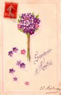 """CPA  Fantaisie Gaufrée  """"Souvenir D´Amitié"""" - Bouquet De Fleurs - Fantaisies"""