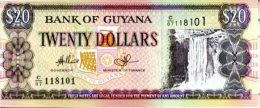 GUYANA 20 Dollars P-30 (new Signature)  ND **UNC** LOT Of 10 B/NOTES - Guyana