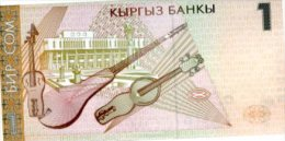 KYRGYZSTAN 1 Som  P-15 1999 **UNC**  Music Instruments LOT Of 5 B/NOTES - Kirghizistan
