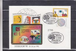 République Fédérale - Lettre De 1990 ° - Pour La Jeunesse - Carte Téléphonique Pour L'expostion Philatélique Naburia - W-Series: Werbekarte Der Dt. Bundespost