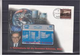 Dorits De L'homme - Autriche - Nations Unies - Lettre De 1993 ° - Carte Téléphonique Pour L'UNO De Vienne - Austria