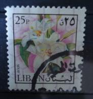 1973 Liban/Libanon Flowers,bloemen,fleurs,blümen Used/gebruikt/oblitere - Libanon